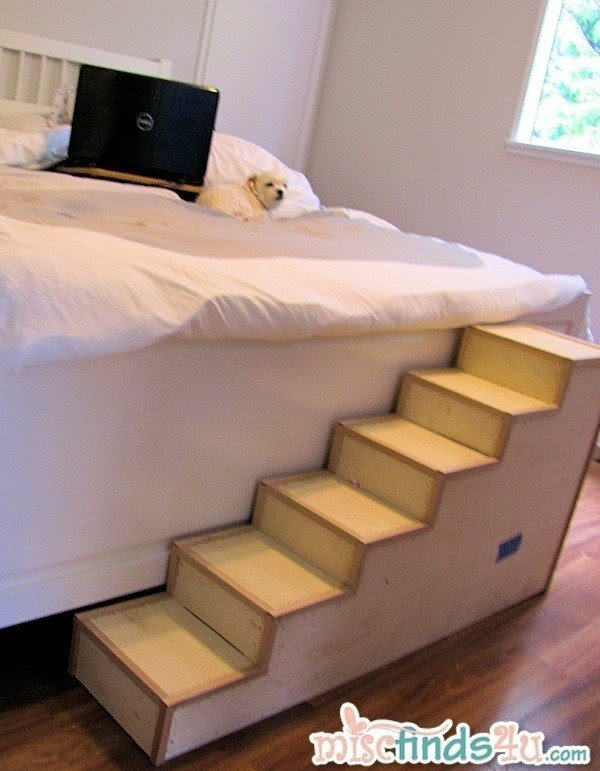 Check Out The Finished Stairs Here Diy Pet Stairs Paint