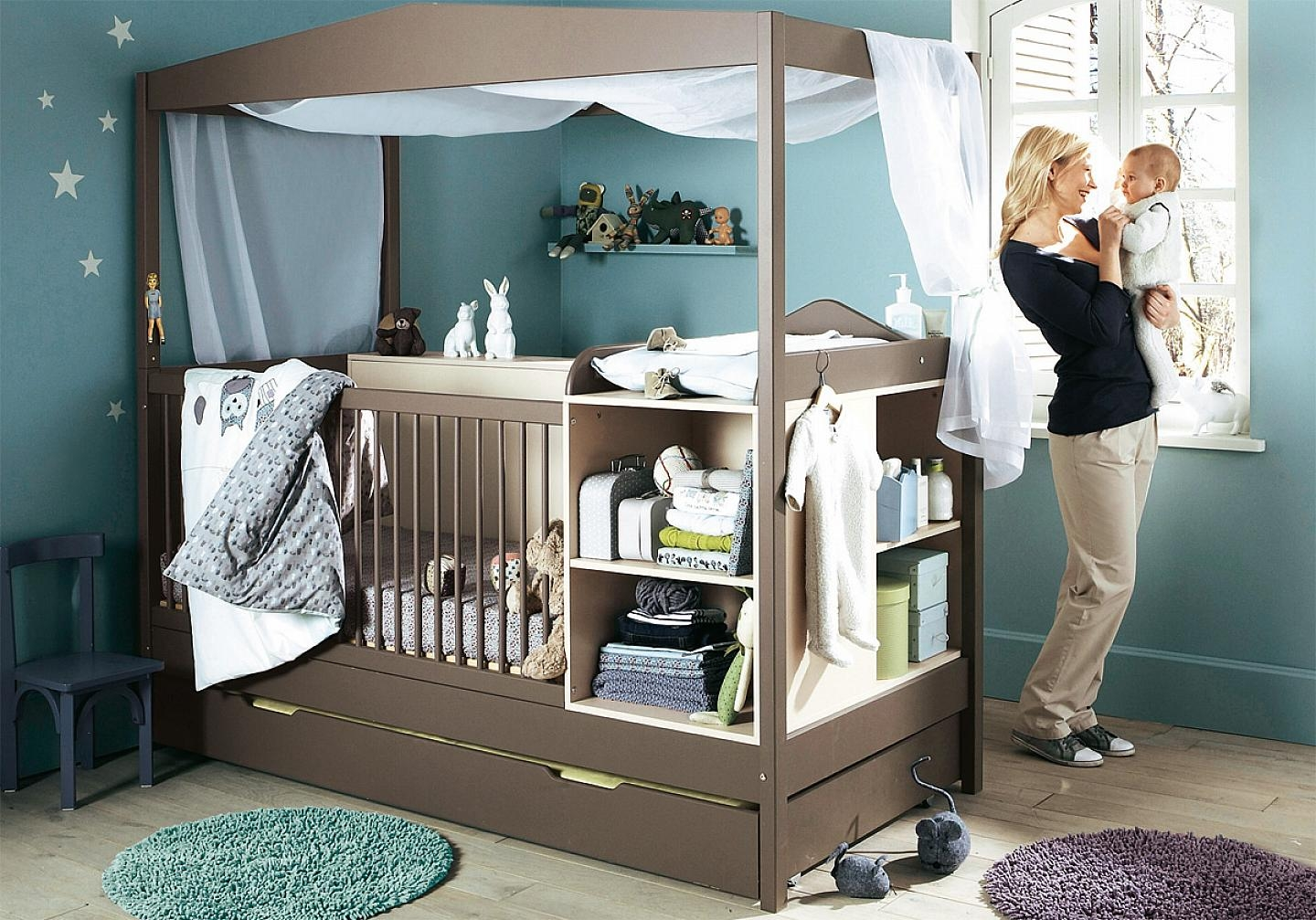 Cribs with storage 1  sc 1 st  Foter & Cribs With Storage - Foter