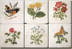Decorative tile inserts 4