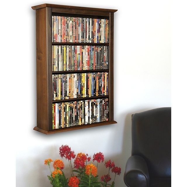 Details About Wall Mount Cd Dvd Storage Rack 342 Cd