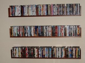 Dvd Storage Ideas Classic Wall Mounted Floating