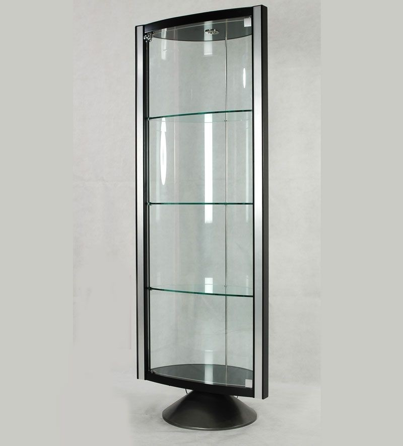 Espresso corner curio cabinet & Contemporary Corner Curio Cabinet - Foter