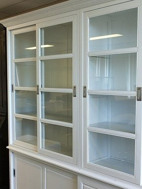 French provincial style buffet glass cabinet 2