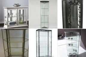 Lovely Tall Narrow Glass Display Cabinet