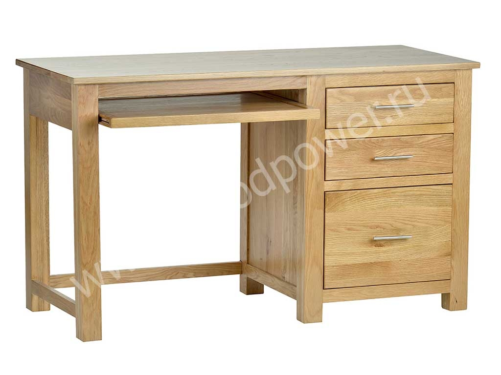 Home office furniture natural oak computer desk