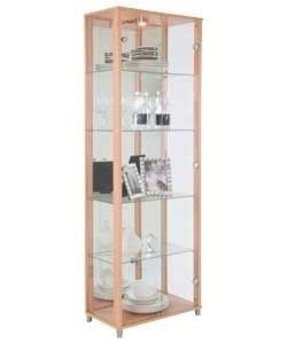 Fresh Wall Display Cabinet with Glass Doors