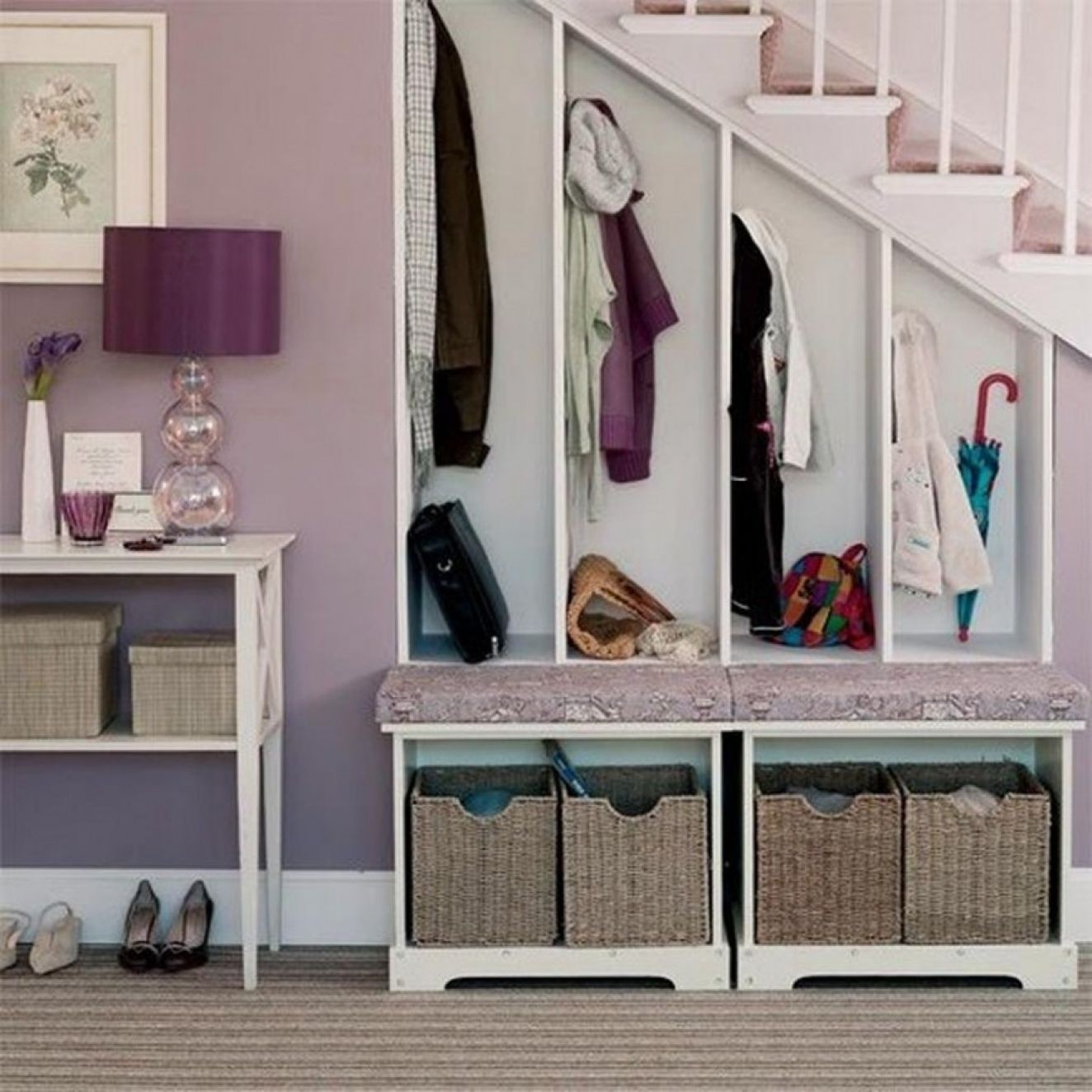 Stair Solution Staircase Hallway Shoes Coat Closet Basement Optimizing