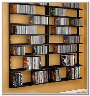 Wall Hanging Dvd Rack