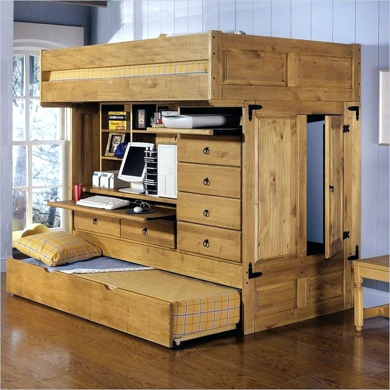 Nice All In One Bunk Bed With Desk