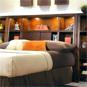 Dark Wood Bed Frame Bedroom