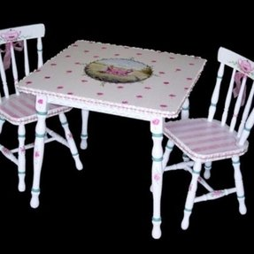 Custom Made Hand Painted Childrens Table Set