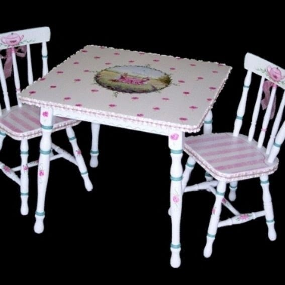 Custom made hand painted childrens table set & Hand Painted Childrens Table And Chairs - Foter