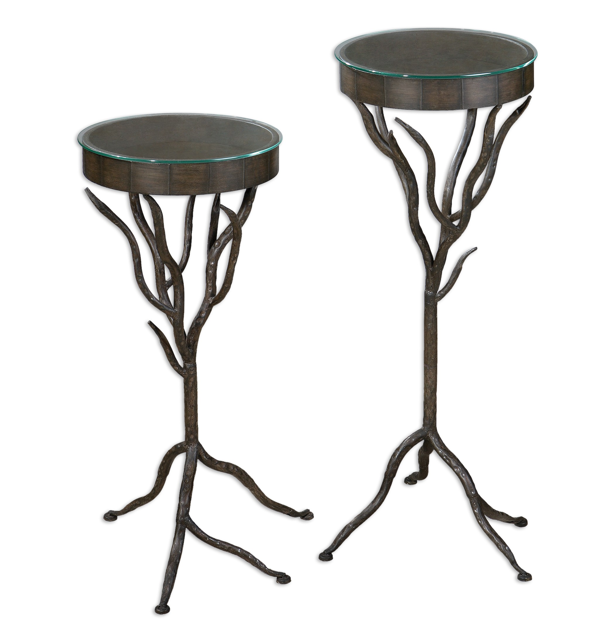 Esher Plant Stands Set Of 2 Contemporary Plant Stands And Telephone Tables