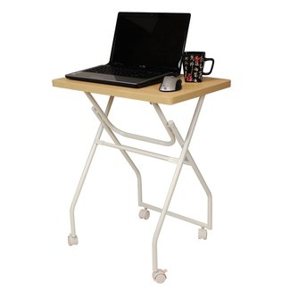 Folding tv tray table laptop computer stand locking wheels free