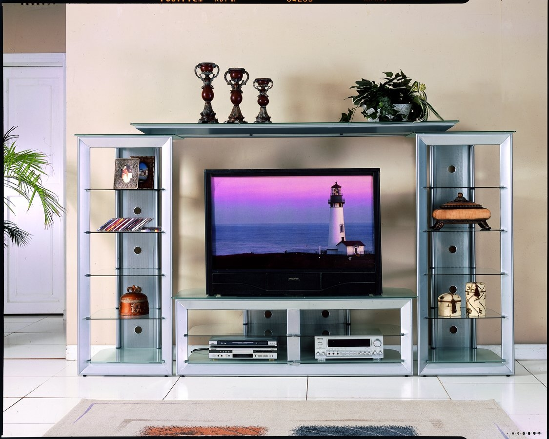 Glass Shelving Units Living Room 1