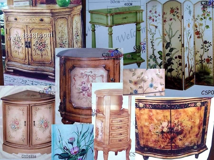 Hand painted console tables 1 & Hand Painted Console Tables - Foter