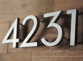 House number diy make your own modern address numbers