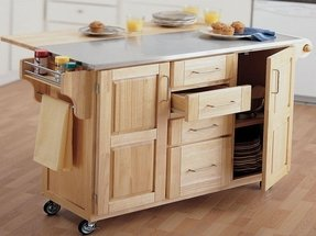 Drop leaf kitchen island table foter kitchen island with drop leaf table watchthetrailerfo