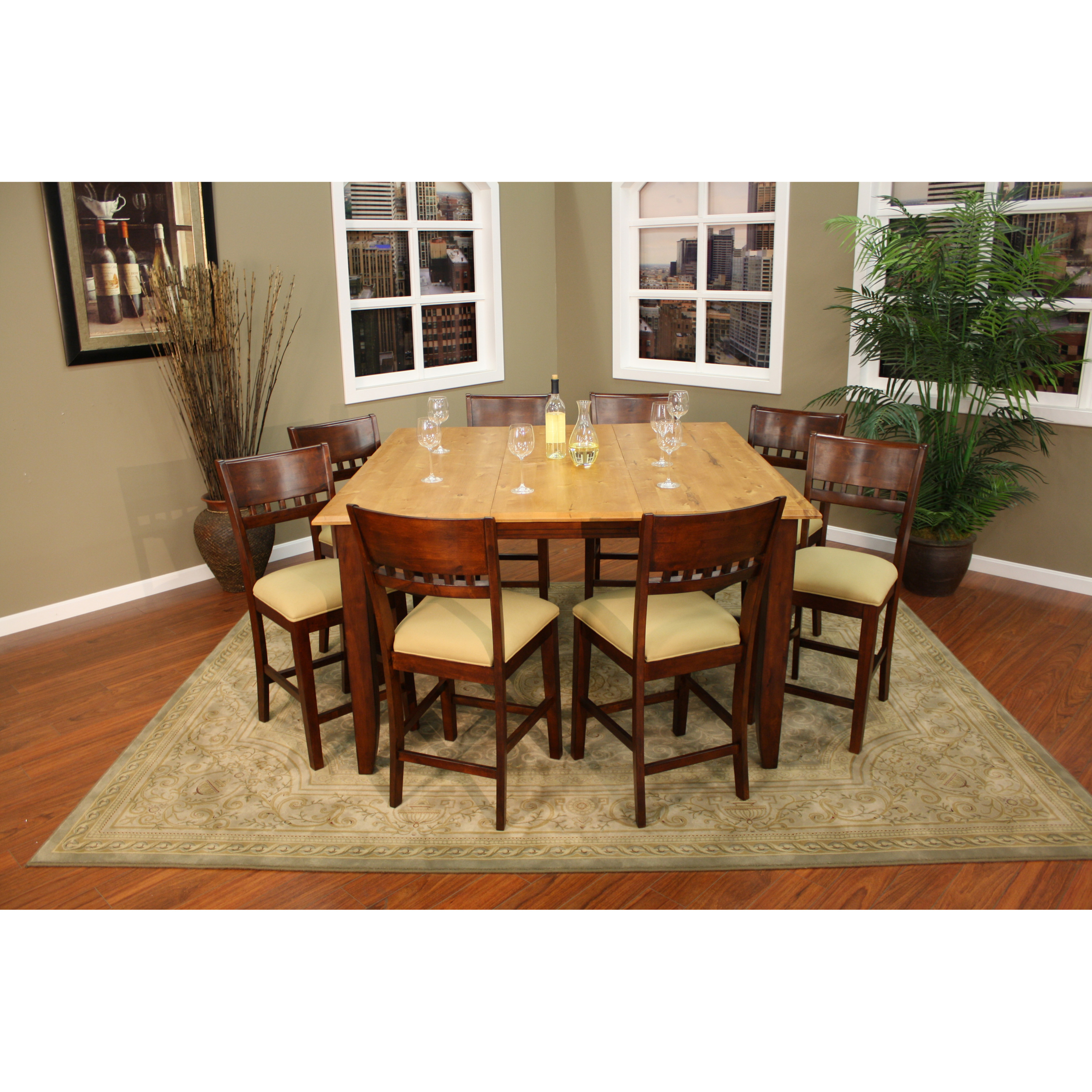 Lovely Light Wood Counter Height Dining Sets 5