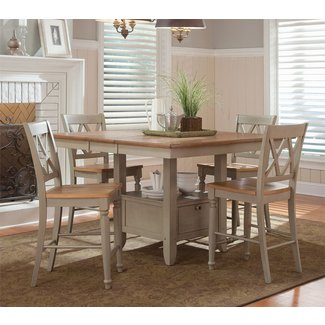 Light Wood Counter Height Dining Sets 6