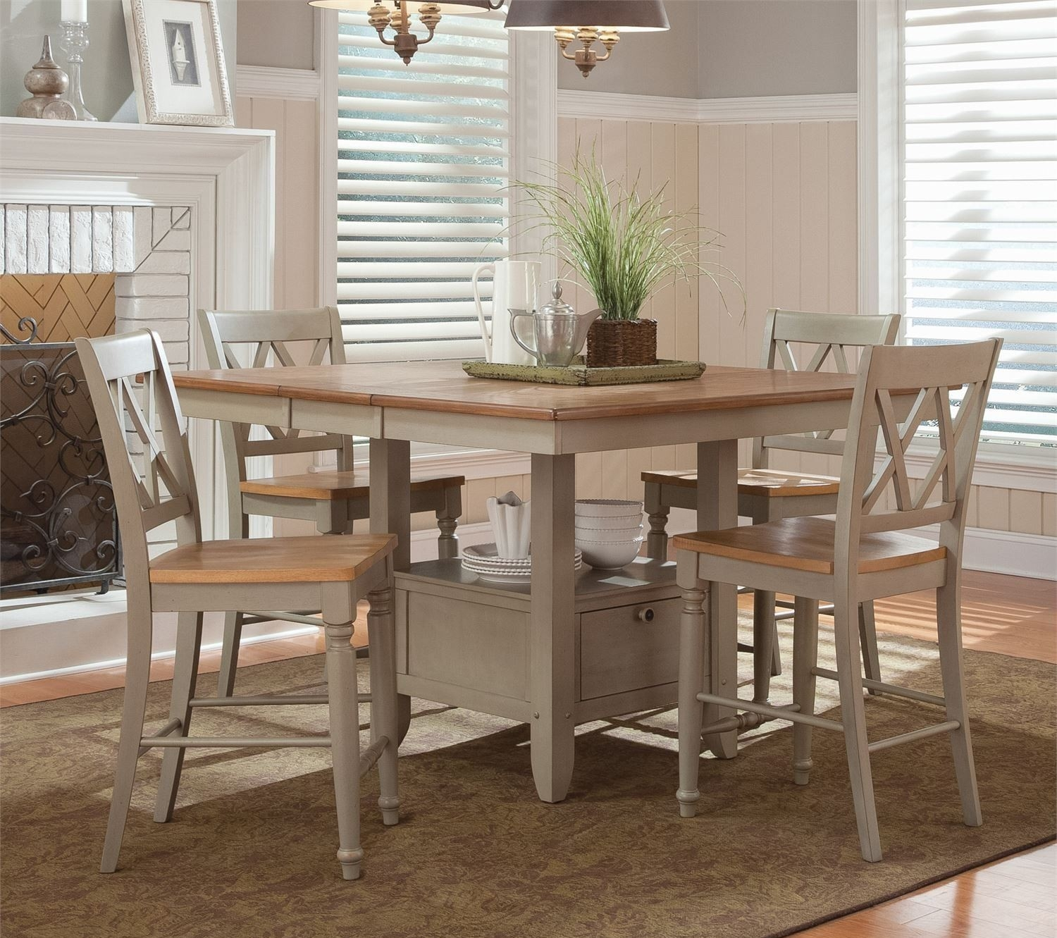 Light Wood Counter Height Dining Sets 6 .