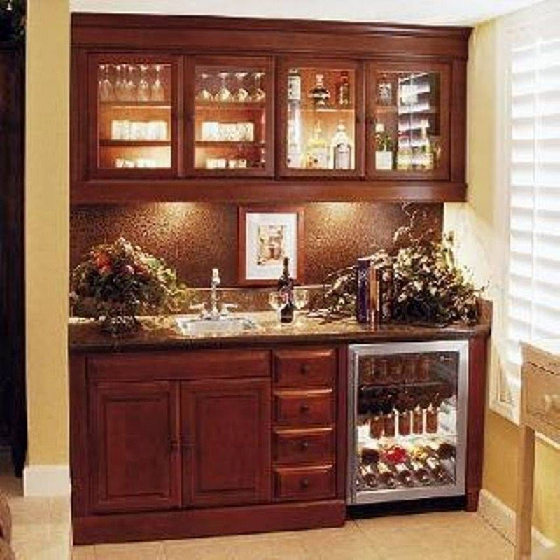 Mini Bar Cabinet Design Ideas With Basement Mini Bar For