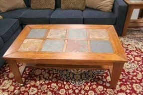 %name Glass Nesting Coffee Tables  Top Brown Leather Ottoman Coffee Tables
