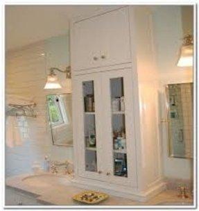 Storage Ideas Bathroom Countertop Tower