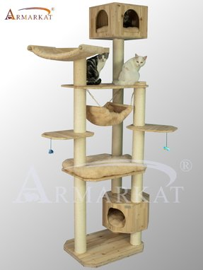 Style armarkat 92 high solid wood cat tree furniture promotion