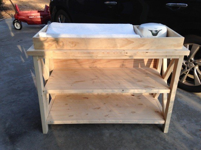 Unfinished changing table 2