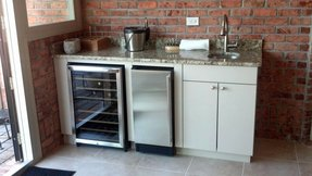 Wet Bar With Wine Cooler Ice Maker