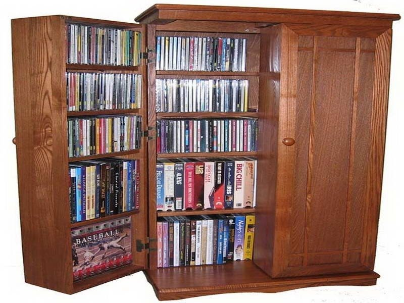 Wood dvd storage cabinet plans 1