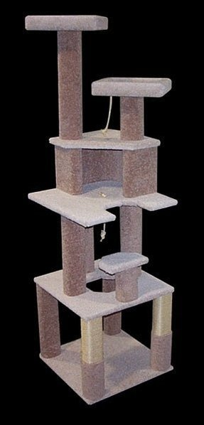 Solid wood cat furniture foter for Wooden cat tree designs