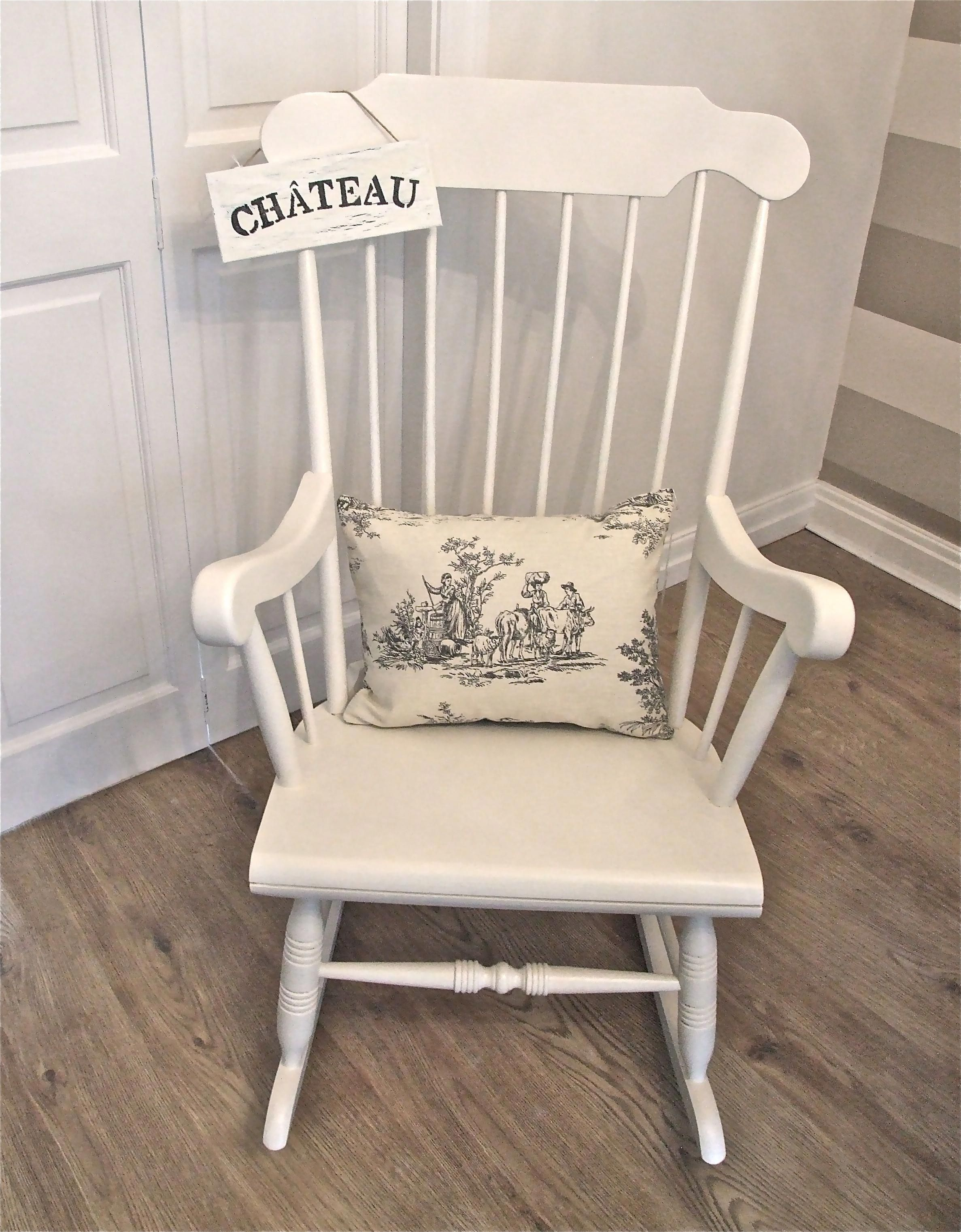 Wooden Rocking Chair For Nursery 1