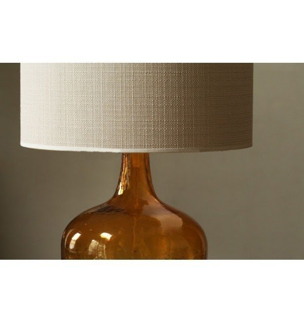 Charmant Amber Glass Table Lamp 1