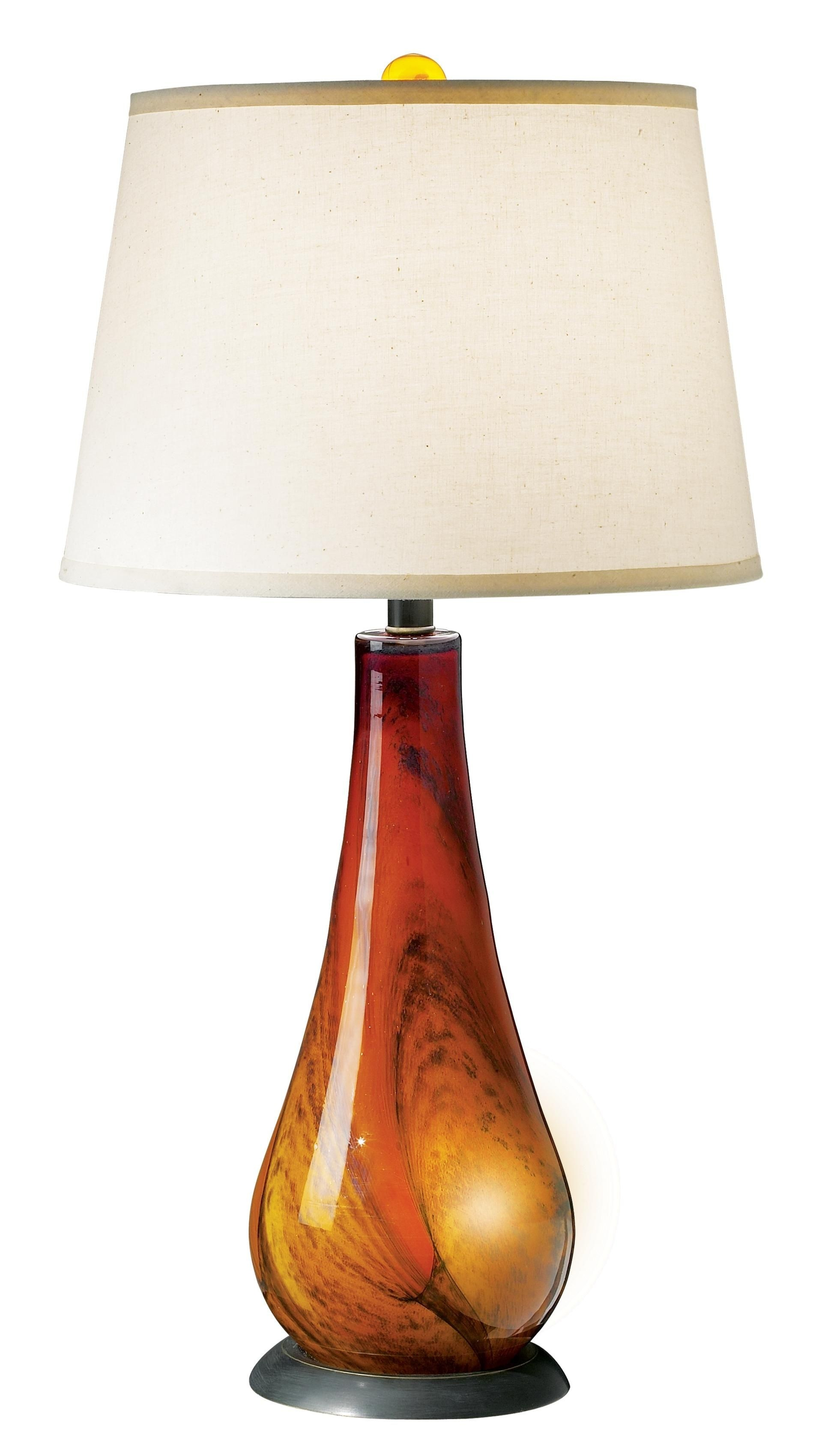 Superbe Amber Glass Table Lamp
