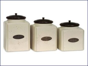 Black kitchen canisters 1