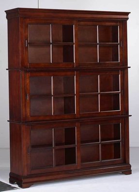Cherry bookcase with doors 3