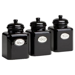 Country Kitchen Tea Coffee Sugar Containers Canisters Jars M2bb