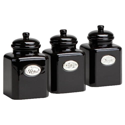 Superbe Country Kitchen Tea Coffee Sugar Containers Canisters Jars M2bb