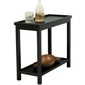 Furniture Tables Accent Oka Narrow Jet Side Table Rubbed
