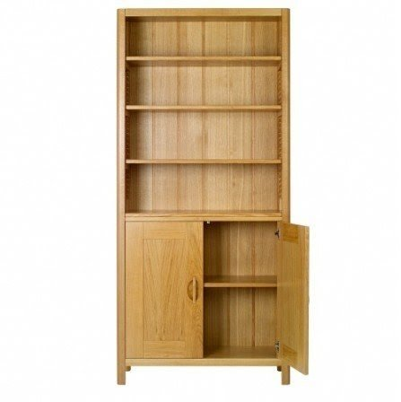 Oak bookcases with doors