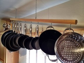 Pot rack for 10 piece pot and pan set 2