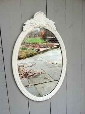 antique white oval mirror foter 15415