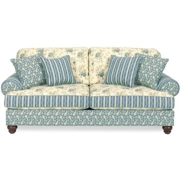 Shop Home Furniture Sofas Carolines Cottage Country Blue Sofa 714