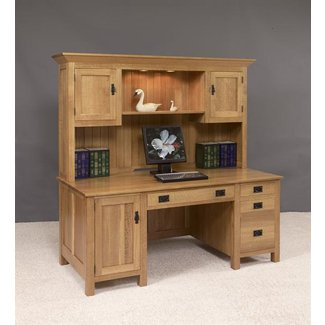 bffac4f60e53e Wood Computer Desk With Hutch - Ideas on Foter