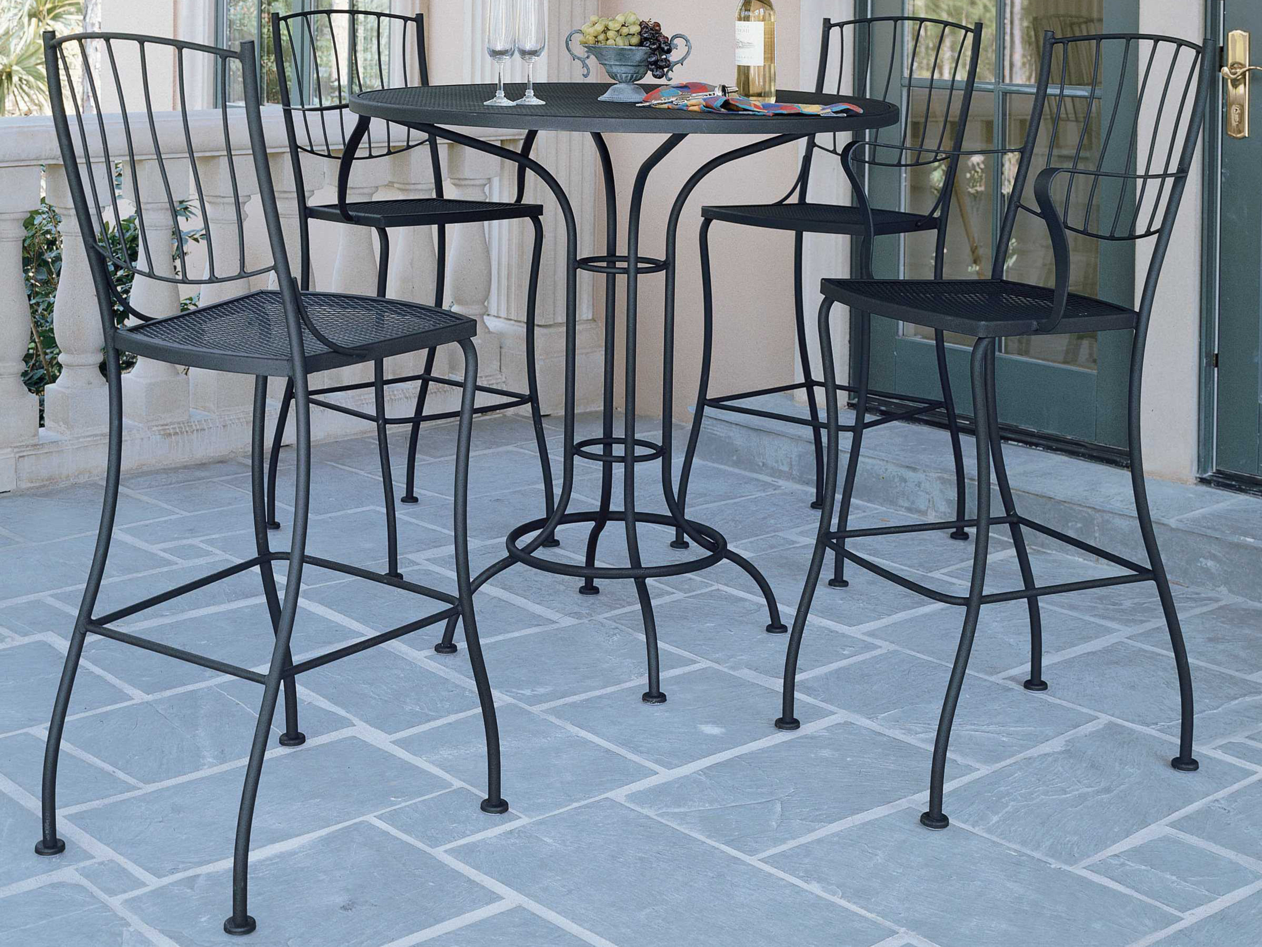 Marvelous Wrought Iron Bar Height Table 1