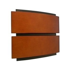 Designer series wireless wired door chime with contemporary wood cover