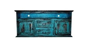 Door 2 drawer tv stand turquoise scraped tv stand
