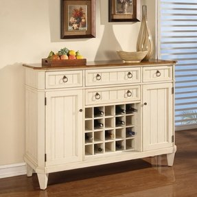 French Country Buffet Sideboard Kitchen Dining Wine Rack Storage